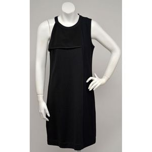 NWT DKNY Black  Textured Panel Knit Dress S